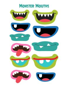 рот монстрика для аппликации