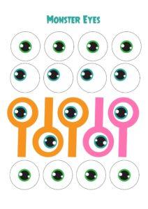 глаза монстрика для аппликации
