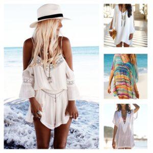 модные пляжные туники