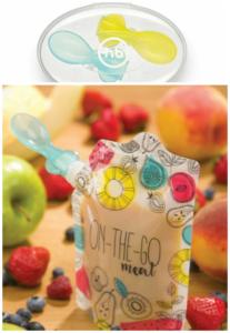 Ложечка для многоразового пакета для детского питания Хеппи Беби приобретается отдельно.