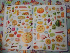 Найди и покажи Лучший подарок для непоседы разворот книги с едой