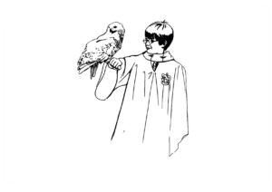 распечатать раскраски Гарри Поттер