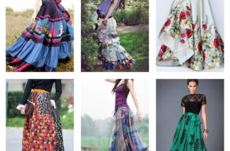 длинная юбка с цветочным принтом