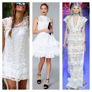 кружевные платья лето 2018