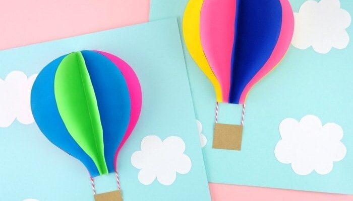 Поделка «Воздушный шар» поэтапно