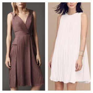 летние плиссированные платья