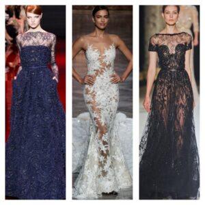 модные кружевные платья на выход