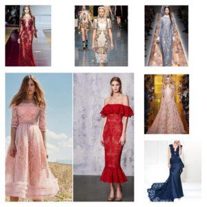 кружевные платья тренд 2018