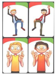 Игра Саймон говорит - набор карточек действий
