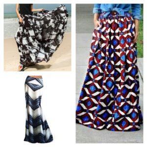 длинная юбка с геометрическим принтом