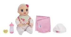 Baby Alive Любимая малютка комплектация: соска, бутылочка, пеленка и шапочка