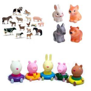 фигурки людей животных и мультгероев любимая игрушка в 1 год
