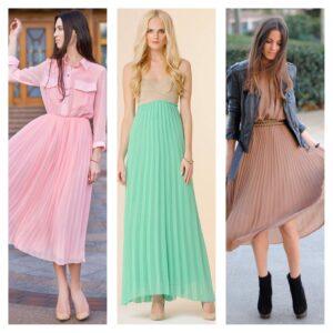 тренд 2018 шифоновое платье