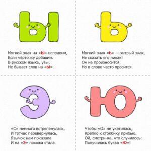 Стихи с буквами - игра Учим буквы