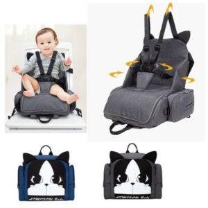 Складной бустер, рюкзак бустер или автокресло для путешествий
