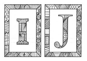 Раскраски Английский алфавит Зендудл