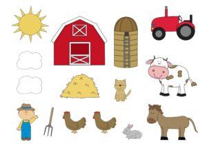 коллаж для детей ферма