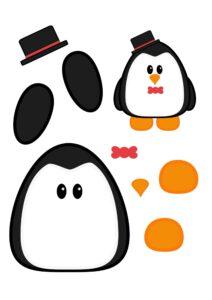 вырезалка ножницами пингвин