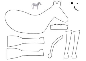 Распечатать шаблон аппликации вырезалки дикие животные