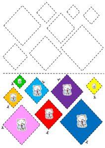 Бесплатный шаблон аппликации из геометрических фигур