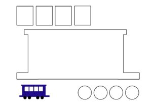 Аппликация Поезд из бумаги
