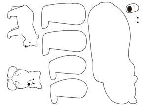 Распечатать шаблоны аппликаций Животные