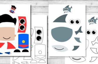распечатать аппликации вырезалки для мальчиков - бесплатные шаблоны