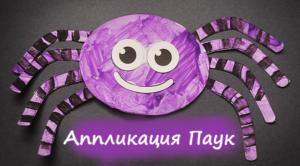 Аппликация паук - поделка-вырезалка
