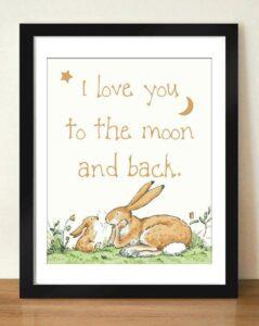 картина с зайцами из книги знаешь как я тебя люблю