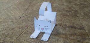 инструкция как сделать бумажную кошку