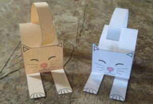 как сделать бумажную кошку