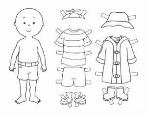 скачать бумажную куклу ребенок