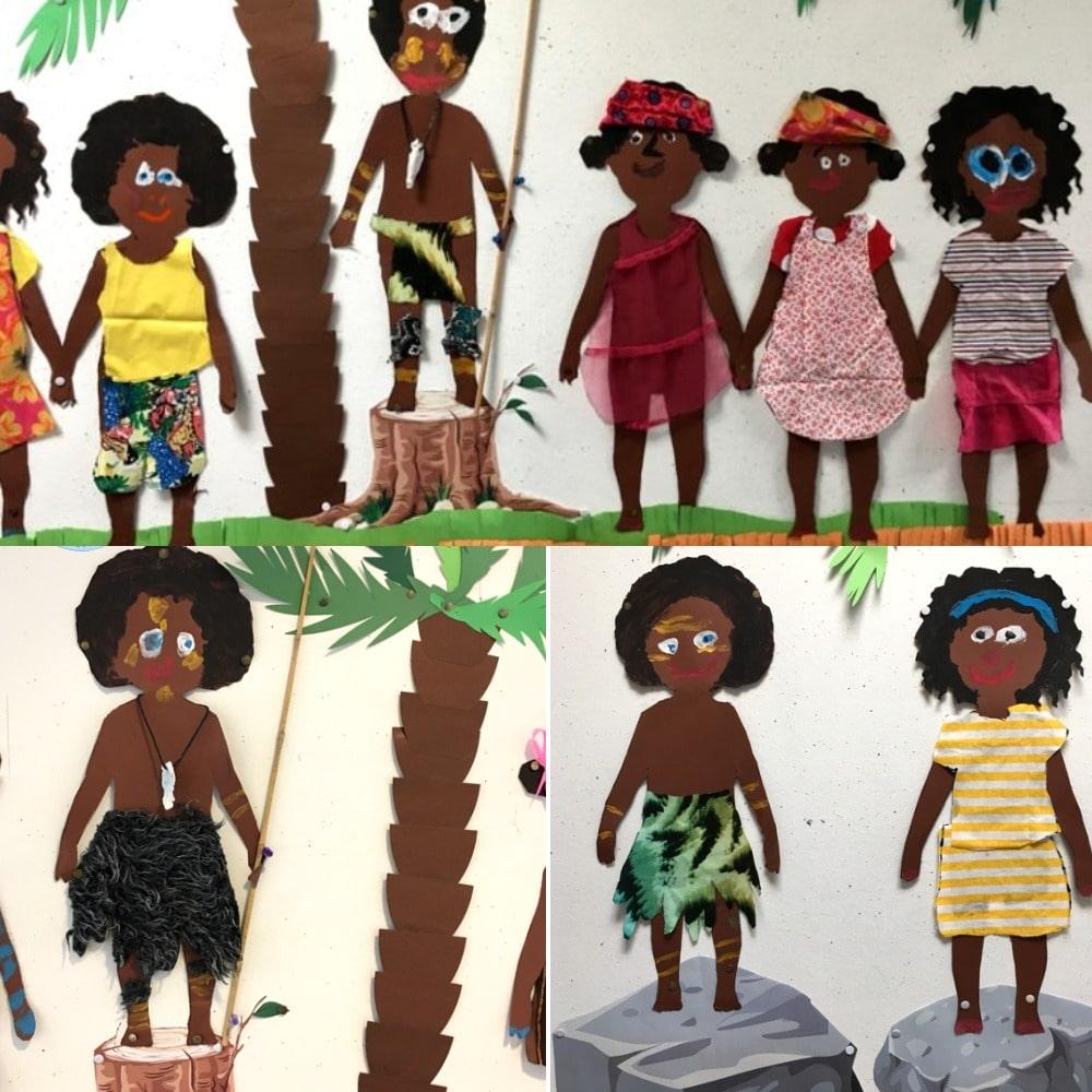 бумажные куклы с набором одежды