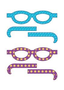 Забавные бумажные очки распечатать