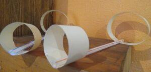 бумажный самолетик из трубочки и бумаги