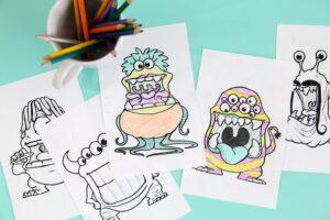 Чем занять ребенка дома: раскраска монстрики