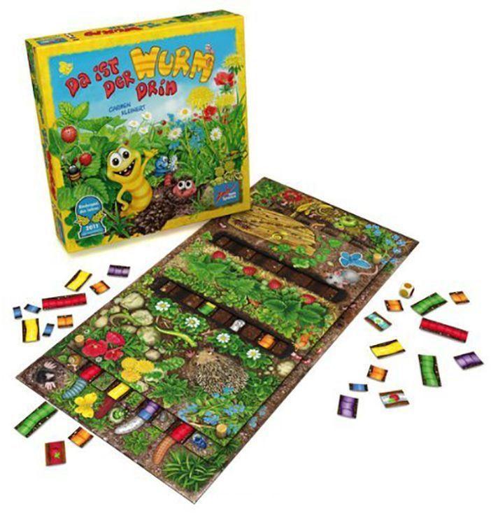 Настольная игра для малышей Червячки-огородники