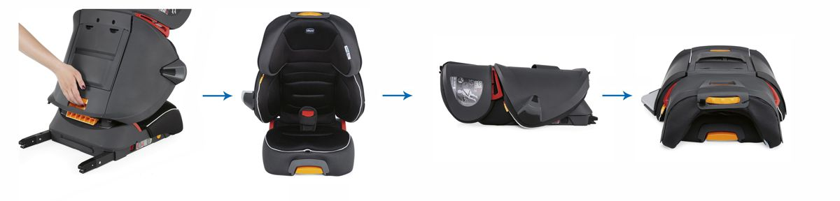 Chicco Fold and Go i-Size – автокресло от 3 до 12 лет