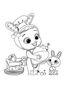 Раскраска Cry Babies Конни