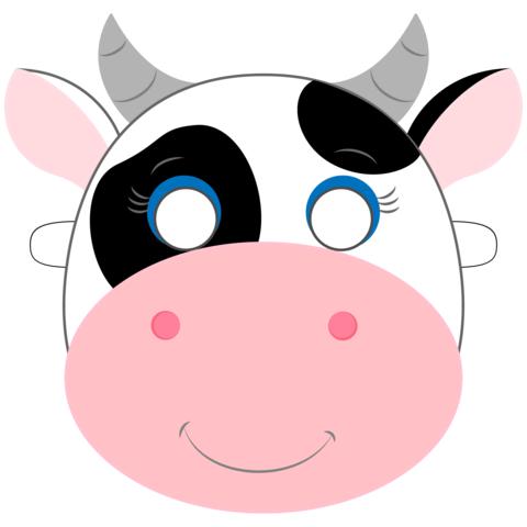 Детскпя маска коровы