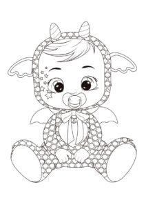 Раскраска Cry Babies Бруни