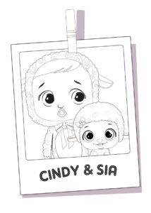 Раскраска Cry Babies Синди