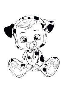 Раскраска Cry Babies Дотти далматинец