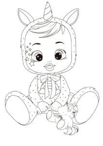 Раскраска Cry Babies Дримми