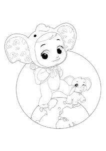 Раскраска Cry Babies Элли слоненок