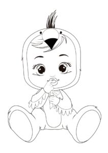 Раскраска Cry Babies Фенси попугай