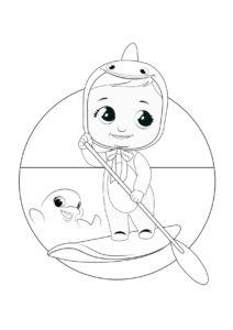 Раскраска Cry Babies Финни рыбка