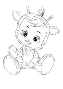 Раскраска Cry Babies Гиги