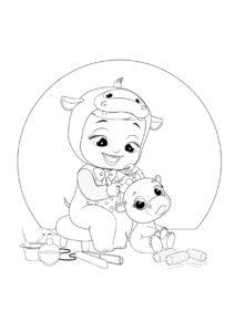 Раскраска Cry Babies Хопи