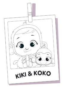 Раскраска Cry Babies Кики